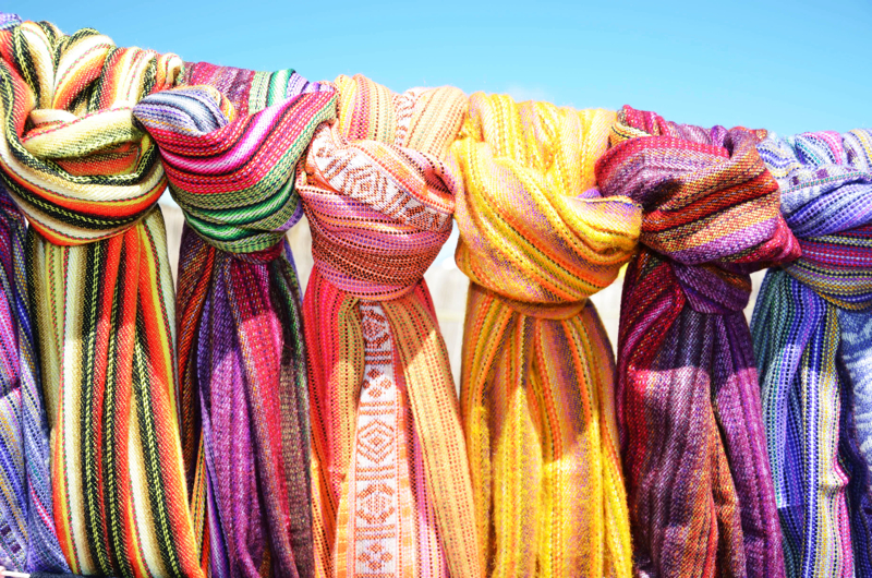 colorful scarves - travel planning