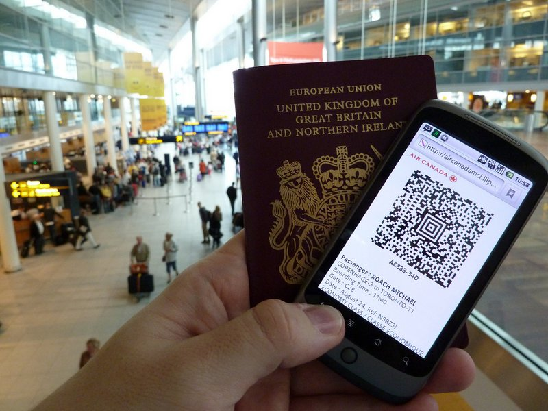 electronic boarding pass - travel planning